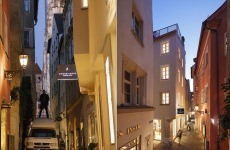 Blaue Stunde über den Gassen der Altstadt